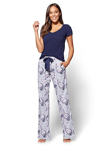 2-Piece Pajama Set - Paisley - New York & Company