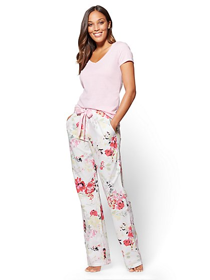 2-Piece Pajama Set - Pink  - New York & Company