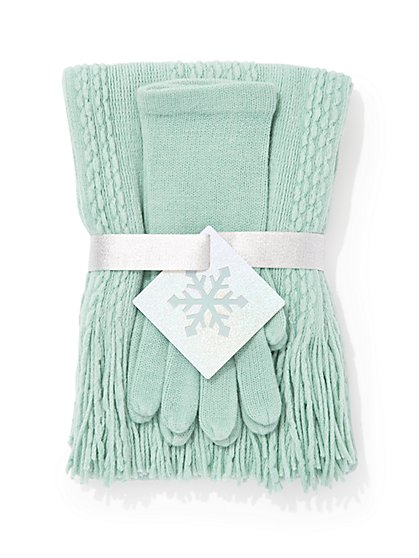 2-Piece Scarf & Gloves Gift Set - New York & Company