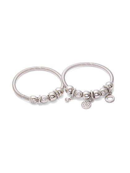 2-Piece Sparkling Charm Bracelet Set - New York & Company