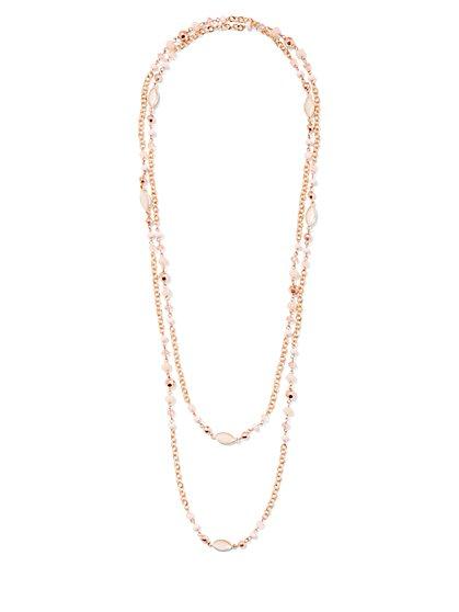 2-Row Beaded Necklace - New York & Company