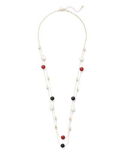 2-Row Illusion Necklace  - New York & Company