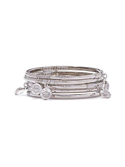 3-Piece Bangle Bracelet Set - New York & Company