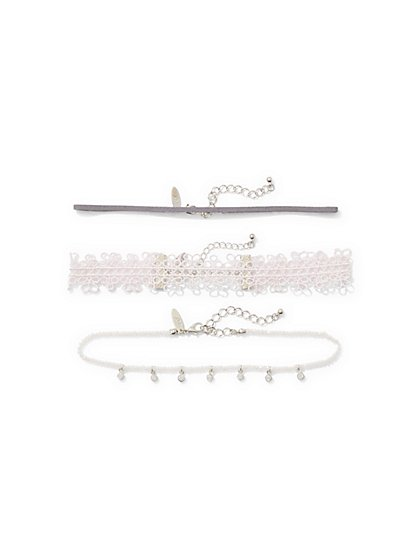 3-Piece Beaded Choker Necklace Set  - New York & Company