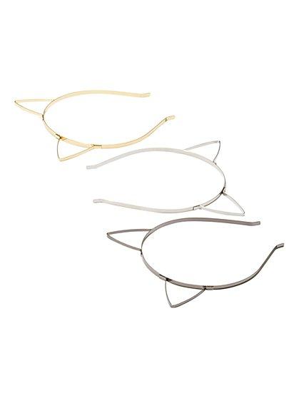 3-Piece Cat-Ear Headband Set  - New York & Company