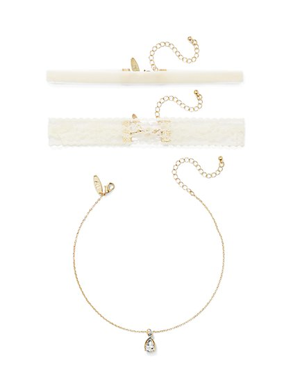 3-Piece Choker Necklace Set  - New York & Company