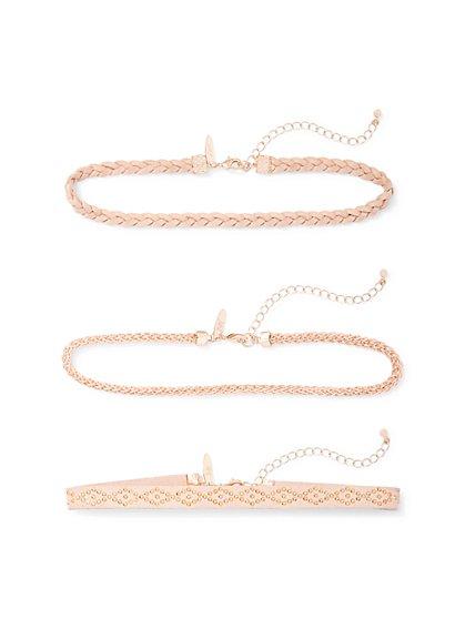 3-Piece Choker Necklace Set  - New York & Company