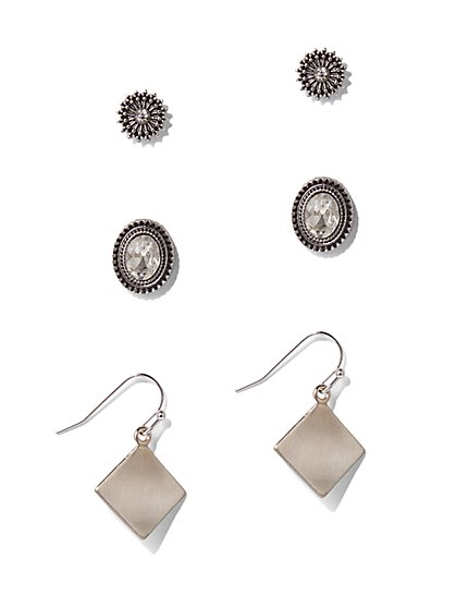 3-Piece Drop & Post Earring Set  - New York & Company