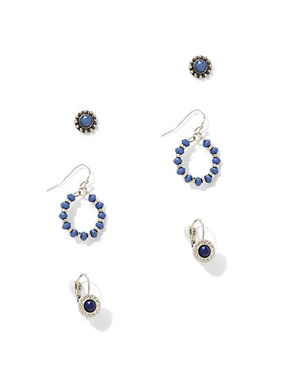 3-Piece Post & Drop Earring Set  - New York & Company