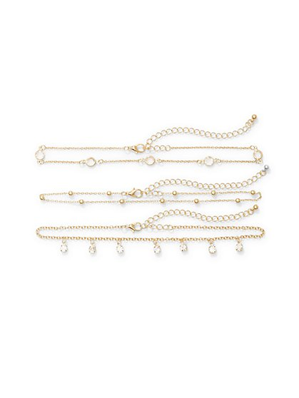 3-Row Beaded Choker Necklace  - New York & Company
