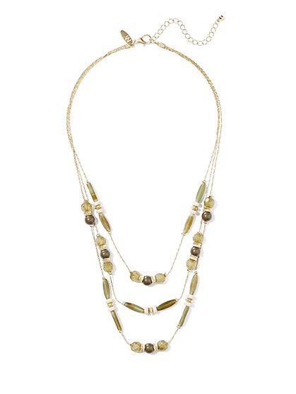 3-Row Beaded Necklace  - New York & Company