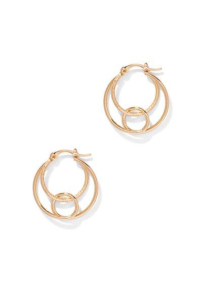 3-Row Hoop Earring  - New York & Company