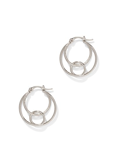 3-Row Hoop Earring  - New York & Company
