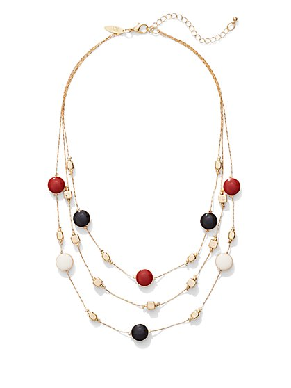 3-Row Illusion Necklace  - New York & Company