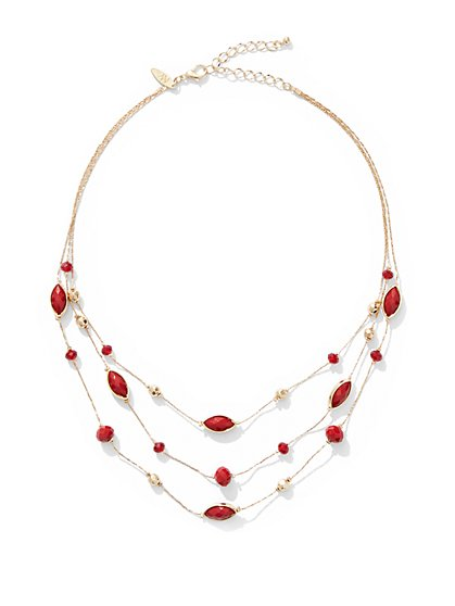 3-Row Illusion Necklace - New York & Company