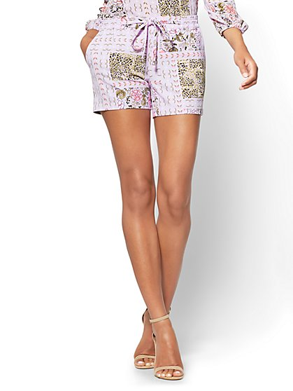 4-Inch Soft Short - Floral & Graphic Print - New York & Company