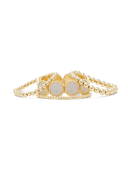 4-Piece Stretch Bracelet Set  - New York & Company