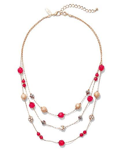 4-Row Beaded Necklace - New York & Company