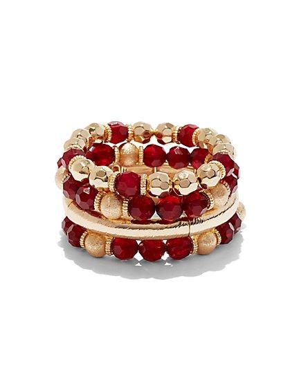 4-Row Beaded Stretch Bracelet - New York & Company