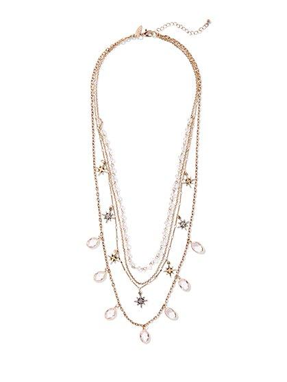 4-Row Celestial Illusion Necklace - New York & Company