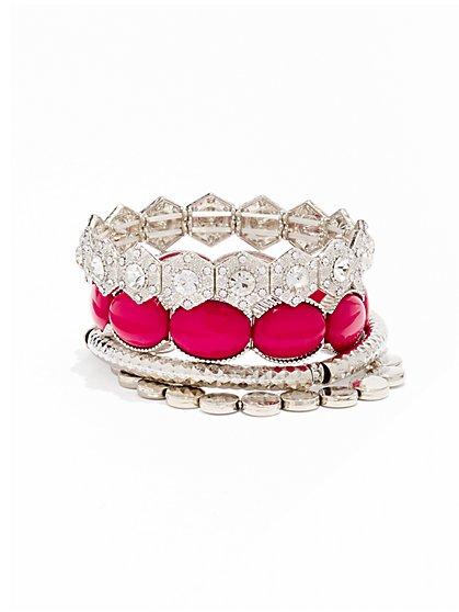 4-Row Stretch Bracelet - New York & Company