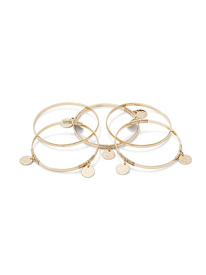 5-Piece Bangle Bracelet Set  - New York & Company