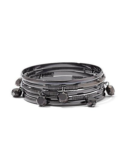5-Piece Beaded Bangle Bracelet Set - New York & Company