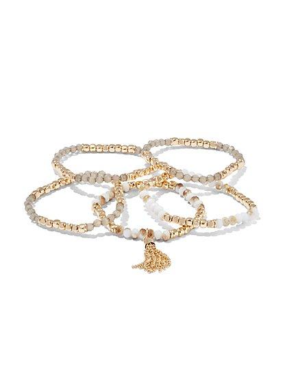 5-Piece Beaded Bracelet Set  - New York & Company