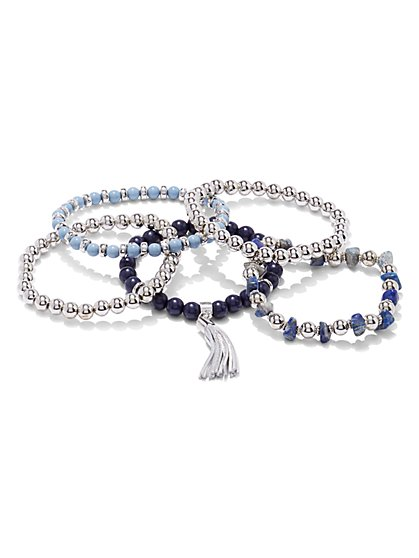 5-Piece Beaded Tassel Bracelet Set  - New York & Company