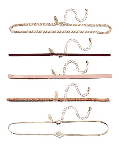 5-Piece Choker Necklace Set  - New York & Company