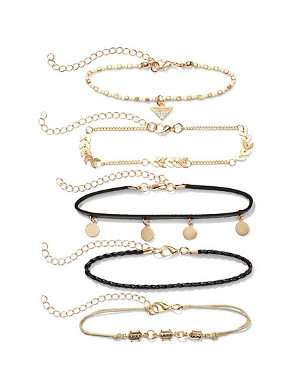 5-Piece Goldtone Bracelet Set  - New York & Company
