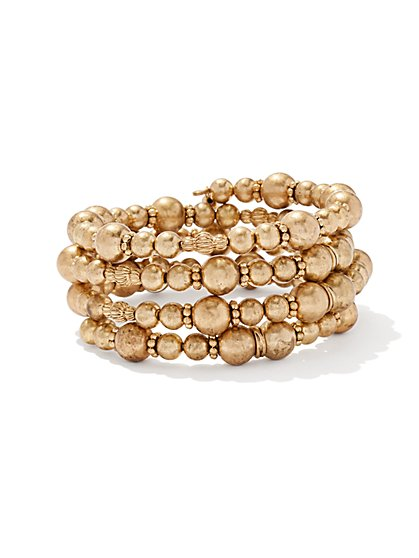 5-Row Beaded Coil Bracelet  - New York & Company