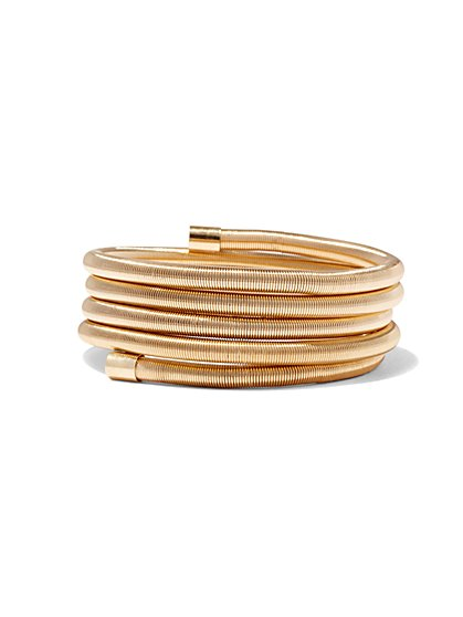 5-Row Coil Cuff Bracelet  - New York & Company