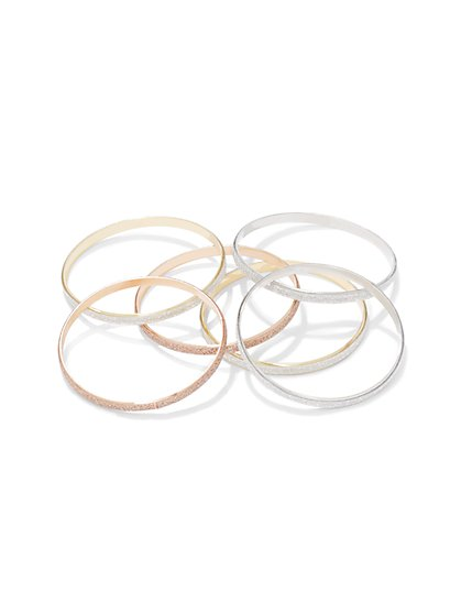 6-Piece Bangle Bracelet Set  - New York & Company