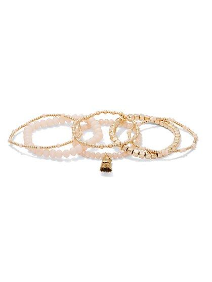 6-Piece Beaded Stretch Bracelet Set - New York & Company