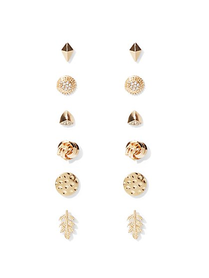 6-Piece Goldtone Post Earring Set  - New York & Company