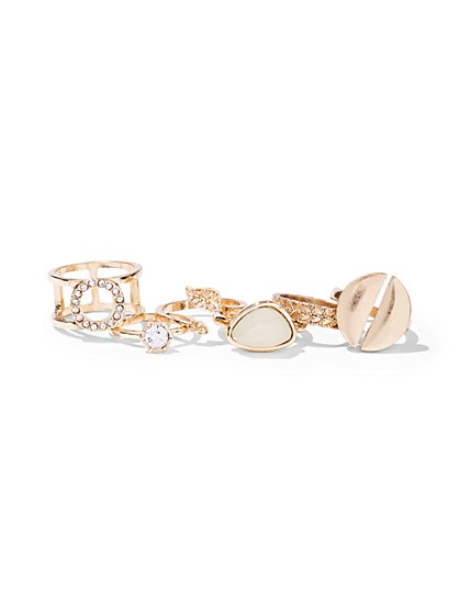 6-Piece Goldtone Ring Set  - New York & Company