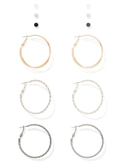 6-Piece Hoop Earring Set  - New York & Company