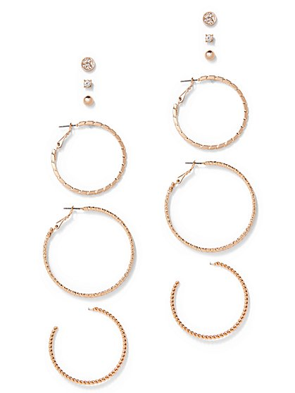 6-Piece Hoop & Post Earring Set  - New York & Company