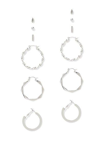 6-Piece Post & Hoop Drop Earring Set  - New York & Company