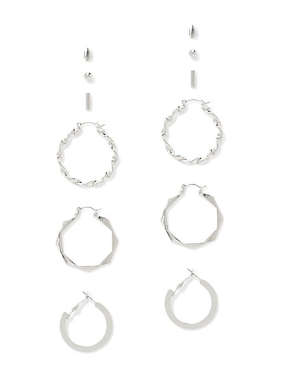 6-Piece Post & Hoop Drop Earring Set  - New York & Company