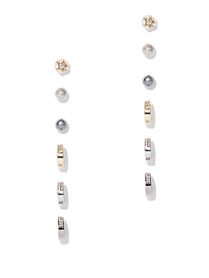 6-Piece Post & Hoop Earring Set  - New York & Company
