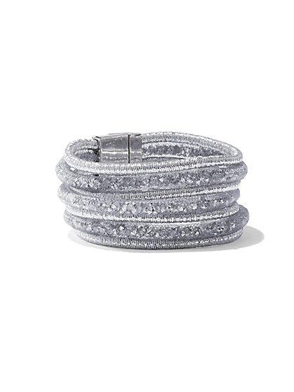 7-Row Mesh Wrap Bracelet - New York & Company