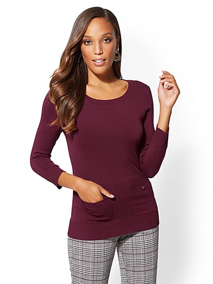 7th Avenue - 2-Pocket Sweater - New York & Company