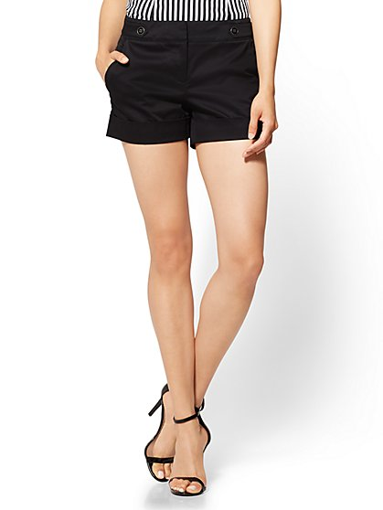 7th Avenue - 4 Inch Short - Modern - Black - New York & Company