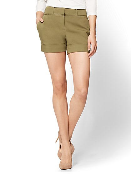 7th Avenue - 4 Inch Short - Signature - Olive - New York & Company