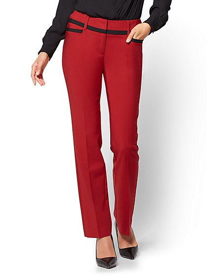 7th Avenue - All-Season Stretch Straight-Leg Pant  - New York & Company