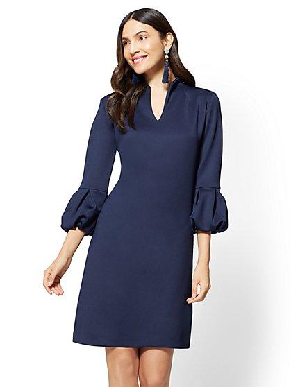 7th Avenue - Balloon-Sleeve Shift Dress - New York & Company