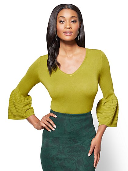 7th Avenue - Bell-Sleeve Sweater  - New York & Company