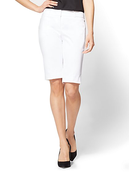 7th Avenue - Bermuda Short - Modern - White - New York & Company